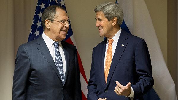 Министр иностранных дел России Сергей Лавров и госсекретарь США Джон Керри. Архивное фото