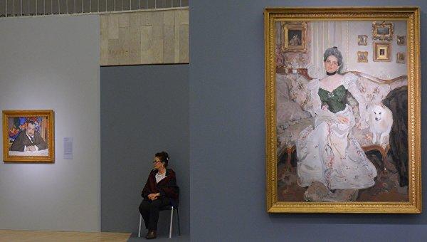 Портрет И.А. Морозова, 1910 и Портрет княгини З.Н. Юсуповой, 1900-1902 на выставке Валентин Серов