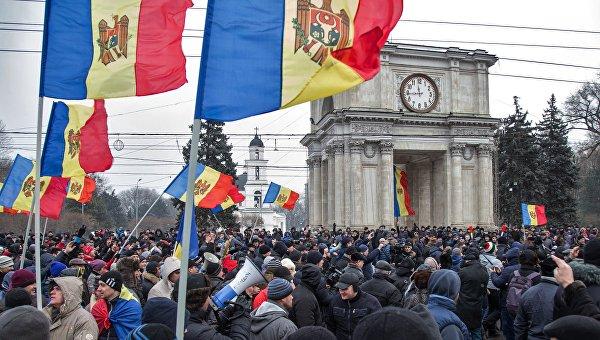 Протестные акции оппозиции в Кишиневе. Архивное фото