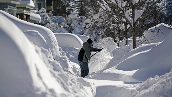 Последствия снегопада в Нью-Джерси. Январь 2016