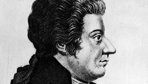 Портрет композитора Вольфганга Амадея Моцарта
