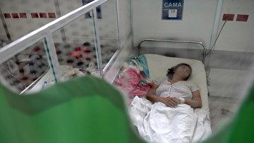 Пациентка с синдромом Гийена-Барре в больнице Сан-Сальвадора. Архивное фото