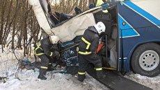 ДТП с участием туристического автобуса в Ленинградской области. Архивное фото
