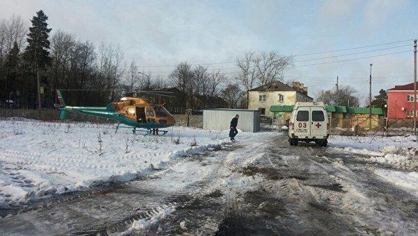 Эвакуация пострадавших в ДТП в Ленинградской области, 30 января 2016