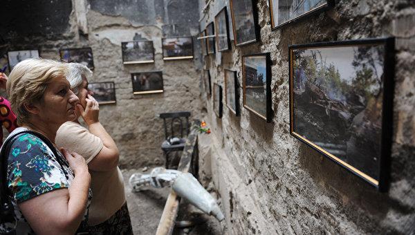 На открытии музея геноцида, посвященного трагическим событиям августа 2008 года в Южной Осетии. Архивное фото