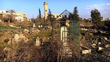 Кладбище боевиков в населенном пункте Осман в провинции Кладбище боевиков в населённом пункте Осман в провинции Дераа, освобождённом военнослужащими Сирийской арабской армии. Архивное фото, освобождённом военнослужащими Сирийской арабской армии