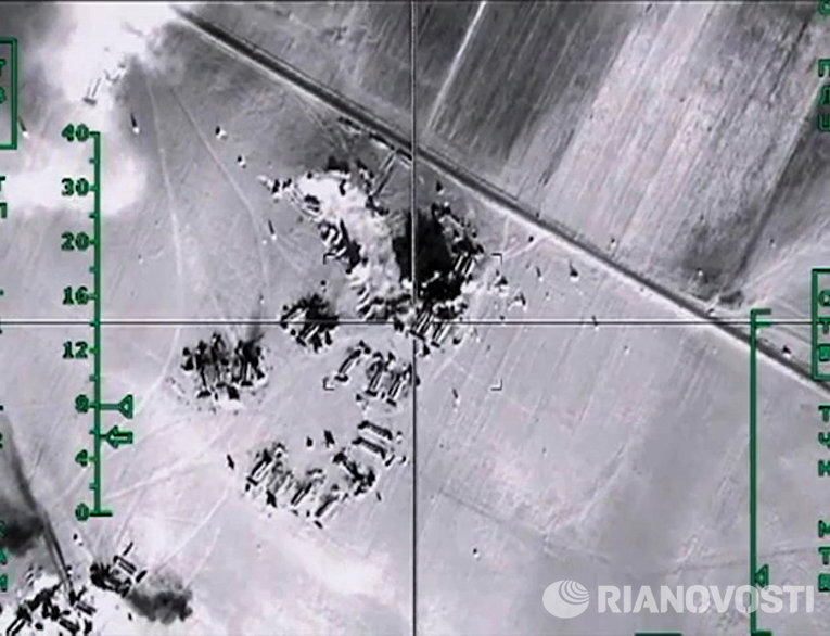 Уничтожение ВКС России нефтехранилищ ИГ в провинции Алеппо