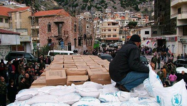 Российская гуманитарная помощь доставлена в город Кесаб в сирийской Латакии. Архивное фото