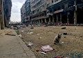 На одной из улиц в историческом центре в Алеппо