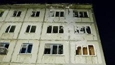 Жилой дом в городе Кировск Мурманской области на которые сошла лавина. Архивное фото