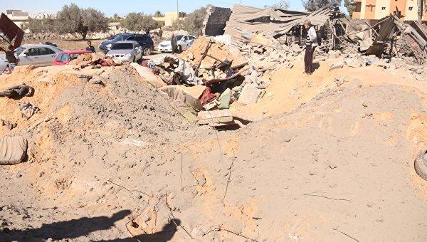 Последствия авиаудара США по ливийской Сабрате