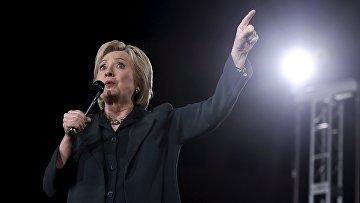 Кандидат от демократической партии Хиллари Клинтон выступает с предвыборной речью в Лас-Вегасе. Невада