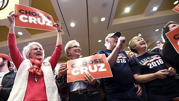Сторонники сенатора Теда Круза голосуют за своего кандидата на праймериз в Южной Каролине
