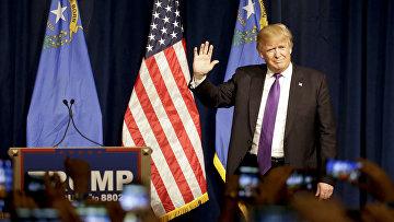 Кандидат в президенты от партии республиканцев Дональд Трамп в Лас-Вегасе. Архивное фото