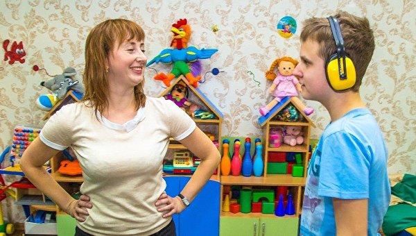 Воспитатель группы дневного пребывания Ирина Штарк в работе