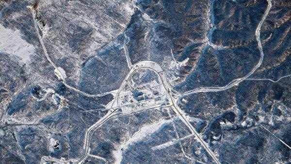 Космодром Восточный сфотографированный с МКС. 20 февраля 2016