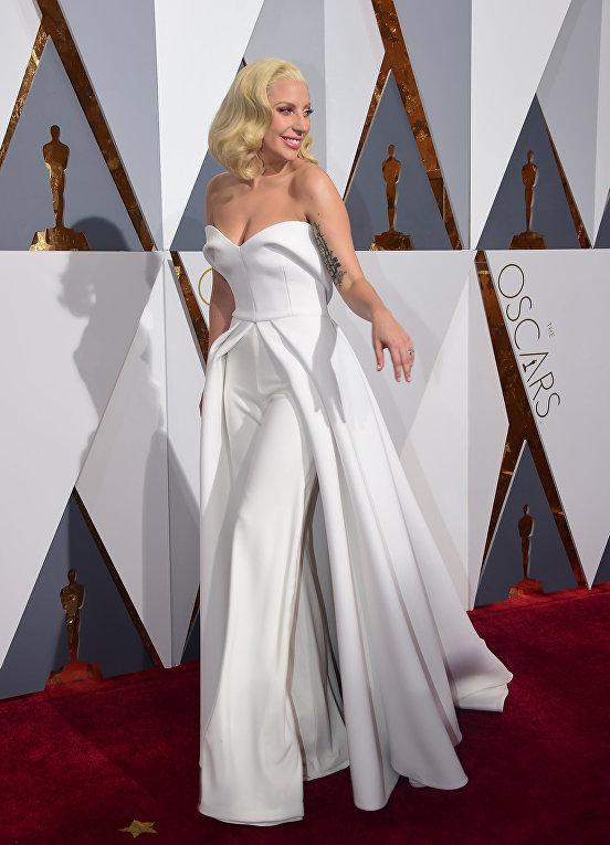 Певица Леди Гага на 88-й церемонии вручения премии Оскар в Голливуде