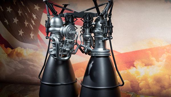 Модель двигателя AR1 компании Aerojet Rocketdyne. Архивное фото