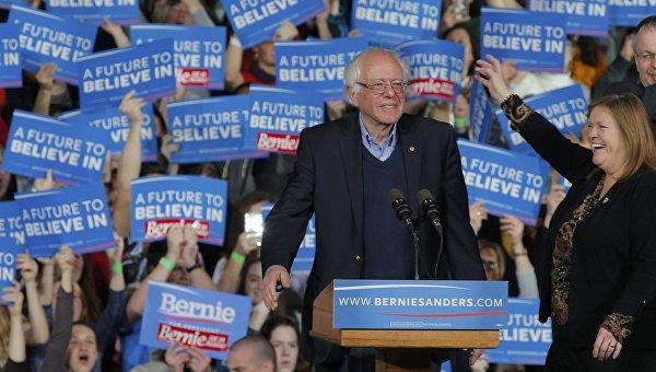 Кандидат в президенты США от демократов Берни Сандерс на праймериз в Вермонте
