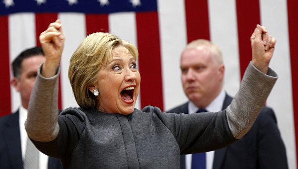 Кандидат в президенты США Хиллари Клинтон на праймериз