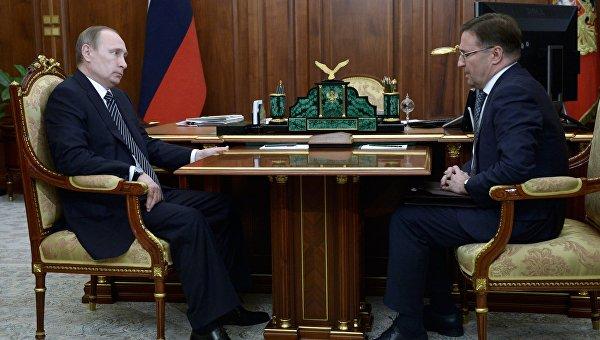 Президент РФ В. Путин встретился с главой Ростехнадзора А. Алешиным
