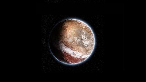 Так художник представил себе Марс в далеком прошлом, до смещения его оси