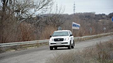 Автомобиль ОБСЕ в ЛНР