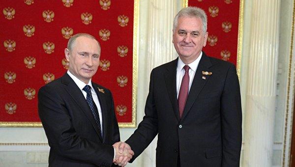 Владимир Путин и Томислав Николич. Архивное фото