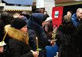 """Церемония прощания с погибшими при взрыве в шахте """"Северная"""" спасателями"""