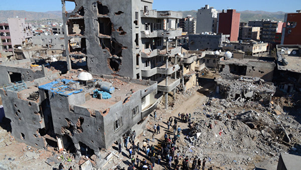 Ситуация в турецком городе Джизре, март 2016
