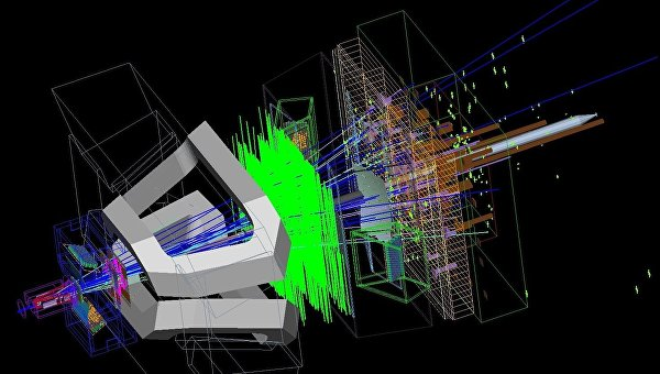 Компьютерная модель распада В-мезона в другие мезоны внутри БАК