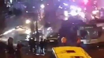 Очевидцы опубликовали видео с места взрыва в Анкаре