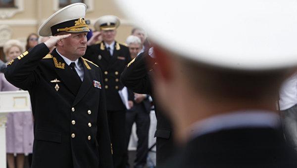 Главнокомандующий Военно-морским флотом вице-адмирал Виктор Чирков. Архивное фото