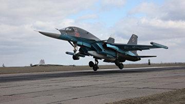 Вылет самолетов ВКС с авиабазы Хмеймим. Архивное фото