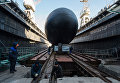 Спуск на воду подводной лодки Великий Новгород в Санкт-Петербурге