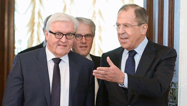 Лавров иШтайнмайер обсудят ситуацию вгосударстве Украина ивСирии