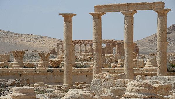 Разрушенная в результате боевых действий историческая часть Пальмиры. Архивное фото