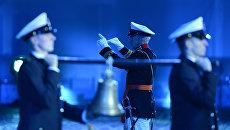 Оркестр Королевского военно-морского флота Нидерландов на открытии международного военно-музыкального фестиваля Спасская башня на Красной площади в Москве