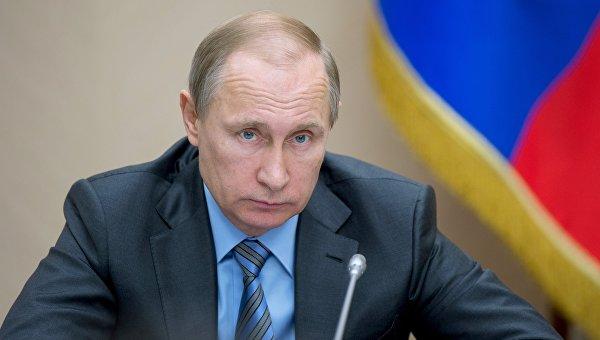 Президент России Владимир Путин проводит совещание с членами кабинета министров РФ в резиденции Ново-Огарево. 30 марта 2016