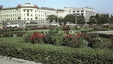 Вид на проспект Ушакова в городе Херсоне. Архивное фото