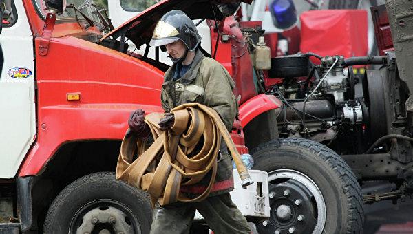 Работа противопожарной службы. Архивное фото
