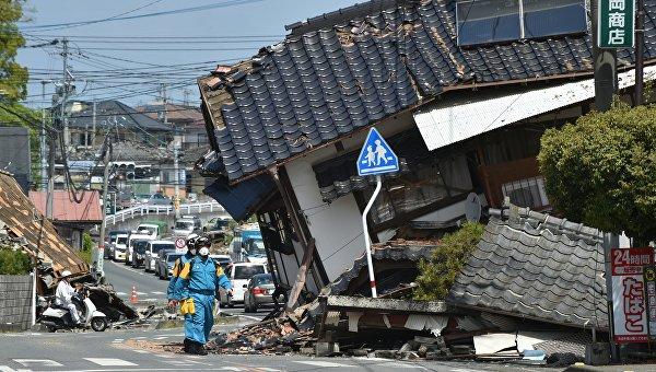 Наюго-западе Японии зарегистрировано землетрясение
