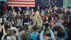 Кандидат в Президенты США от Демократической партии Хиллари Клинтон в штате Индиана. Архив