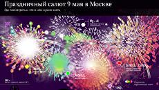 Праздничный салют 9 мая в Москве