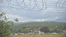 Вид на стихийный лагерь беженцев. Архивное фото
