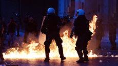 Столкновения с полицией в Греции. Архивное фото