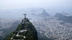 Статуя Христа Искупителя в Рио-де-Жанейро, Бразилия. Архивное фото