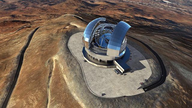 Модель телескопа E-ELT