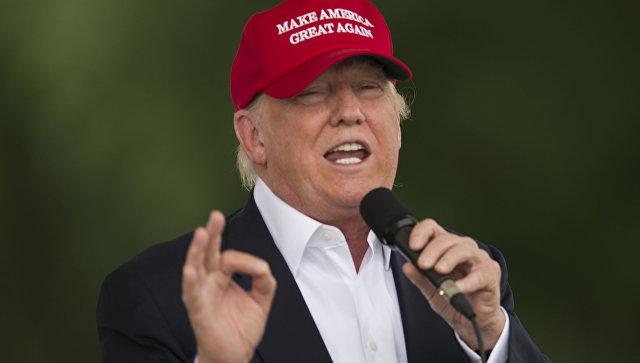 Кандидат в президенты США от Республиканской партии Дональд Трамп в Вашингтоне, США. 29 мая 2016. Архив