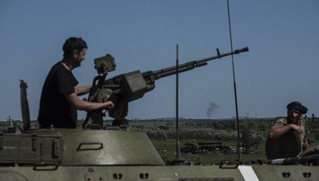 Бронетехника ВСУ в районе Донецка, Украина. Архивное фото